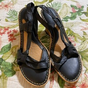 ⭐️Born Black Cork Wedge Sandal 👡 Size 10⭐️